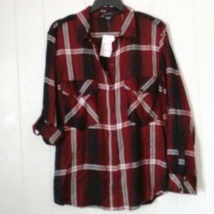 🆕Sanctuary Red and Black Plaid Shirt